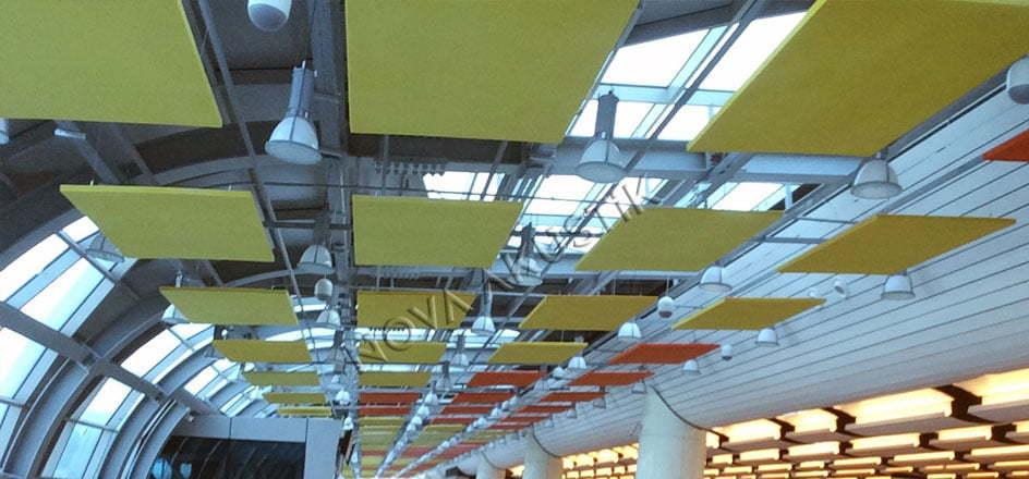 Akustik Yüzer Tavan Paneli Uygulaması