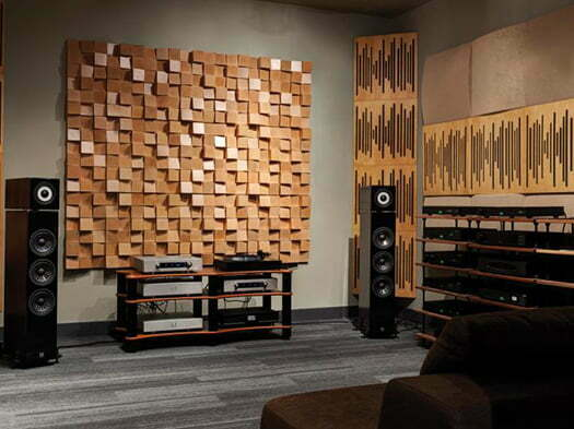 akustik ahşap difözür panel