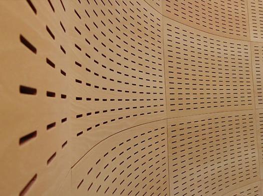 akustik derzli ahşap panel