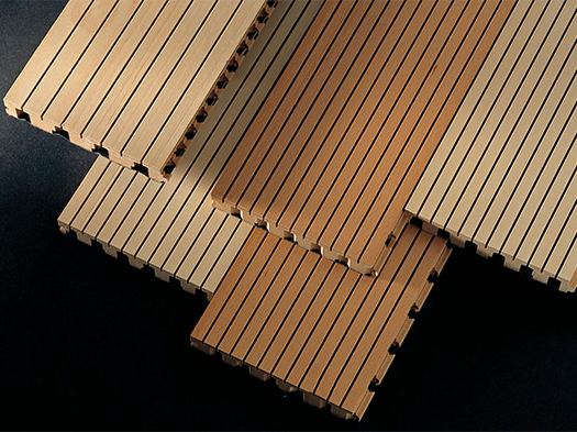 akustik ahşap derzli panel
