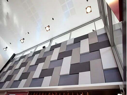 akustik kumaş kaplı paneller