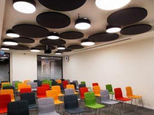 akustik yüzer tavan panelleri